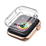 CANAMETI Nuovo arrivo Ultra-sottile 0,3 mm Cover TPU trasparente per Apple Watch SERIE 4 Custodia 40 mm 44 mm (40MM)