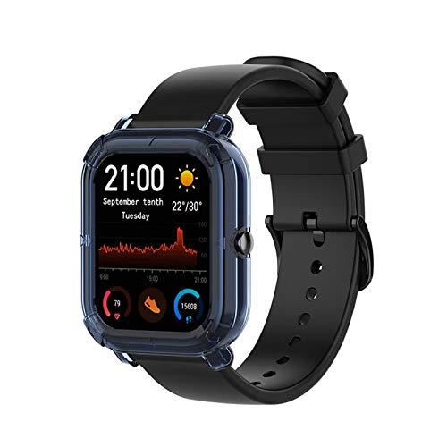 KIMODO Adecuado para Huami Amazfit GTS 2 Mini Estuche Juvenil Reloj Inteligente Pulsera Accesorio Estuche Reemplazo 43.6x37mm (Azul)