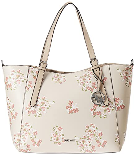 Nine West Kylee Trap Tote Fawn Floral One Size