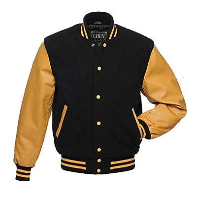 Varsity Jacket for Baseball Jacket 100% Wool & 100% Genuion Leather Men's Stylish & Fashionable