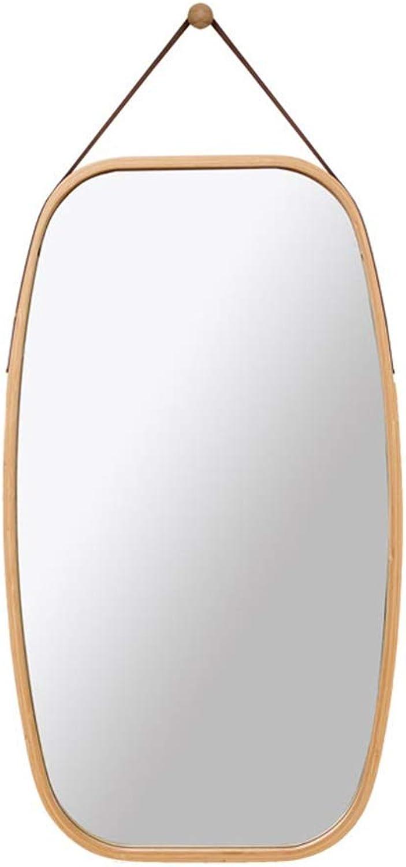 Mirror, Bathroom Mirror Wall Mounted Mirror Nordic Decorative Round Mirror Wall Mounted Mirror (Size   40.5x33cm)