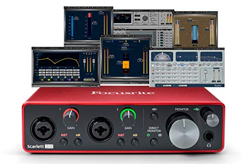 Focusrite Scarlett 2i2 (3rd Gen) USB Audio Interface plus Waves Musicians 2 and iZotope Mobius Filter Bundle