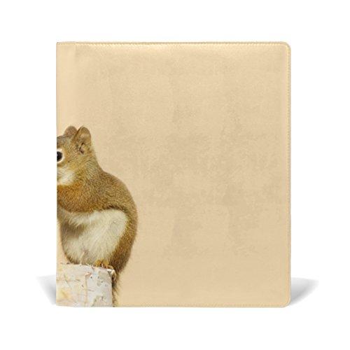 TIZORAX Baby Eekhoorns Delen Zonnebloemen Zaden Op Berk Log Stretchable Book Covers Past op de meeste Hardcover leerboeken tot 9 x 11. Lijmvrij, PU-lederen schoolboekbeschermer. Eenvoudig aan te brengen.