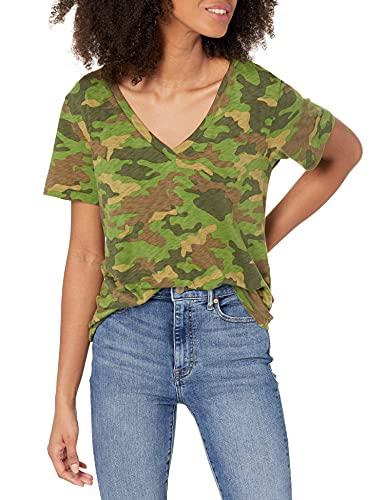 Marque Amazon - Lindsey T-shirt ample à col V et manches courtes par The Drop