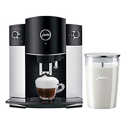 Jura D6 Automatic Coffee Machine 15216 Platinum and Glass Milk Container Bundle (2 Items)