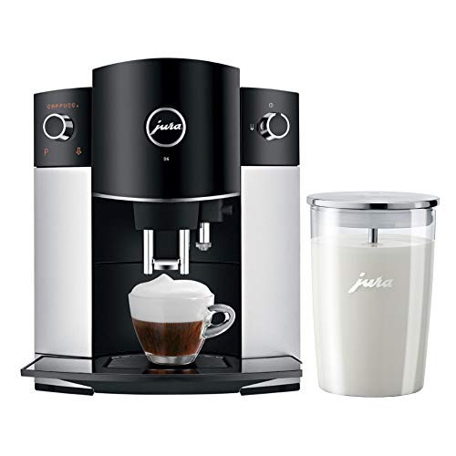 Jura D6 Automatic Coffee Machine 15216 Platinum and Glass Milk Container Bundle...