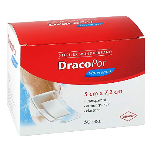 DRACOPOR waterproof Wundverband 5x7,2 cm steril 50 St