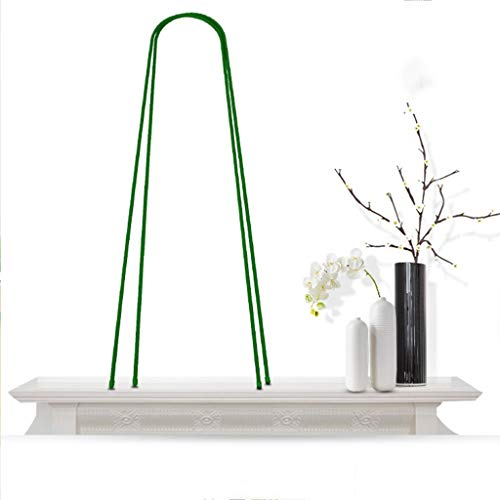 KWS U-Shaped Bracket Climbing Plant Frame,Can with Insect Net,Insulating Film,Suitable for Climbing Plants Such as Green Clematis,Vines and Other Climbing Plants on The Balcony Garden,Green B.2