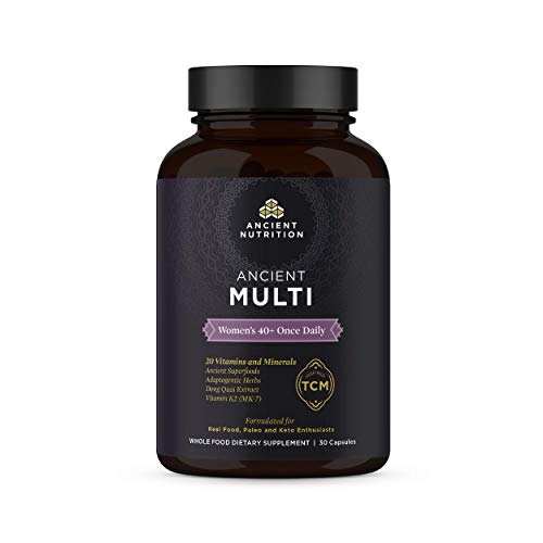 Ancient Nutrition, Ancient Multi Women's 40+ Once Daily - 20 Vitamins & Minerals, Adaptogenic Herbs, Paleo & Keto Friendly, 30 Capsules
