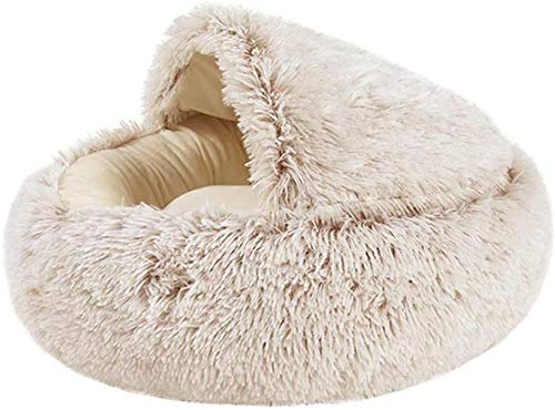 Haustier Bett Hundebett Zwinger Haustier Nest Slip Plüsch Katze Kissen Welpe Sofa super weich warm rund-Koffer 40 * 40cm