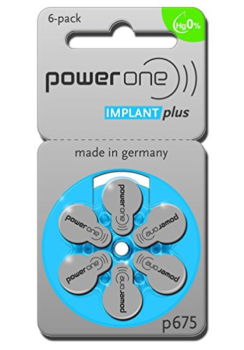 PowerOne Implant Plus Size 675 by PowerOne, 60 Batteries