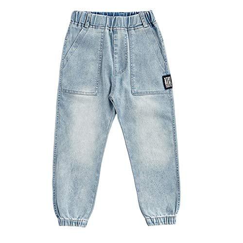 JUNMIN Pantalones de Mezclilla para niños de Spring Boys ', Jeans Informales (Size : 160cm)