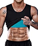 Men Neoprene Waist Trainer Vest Weight Loss Hot Sweat Slimming Body Shaper Sauna Tank Top Workout Shirt Shapewear No Zipper (SS90 Black, XXXX-Large)