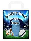 Bolsas de fiesta temáticas de rugby, para regalos, botín, eventos, colores Waratahs (paquete de 6)