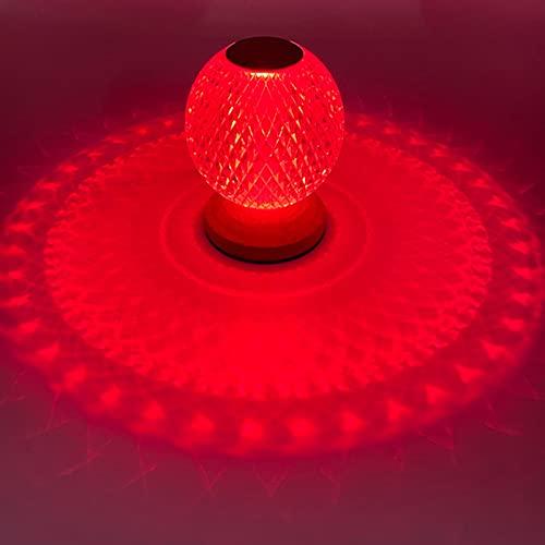 HSART Lámpara Diamond Mood Luz De Mesa De Cristal, Lámpara De Escritorio RGB, Atenuación De Control Remoto Cobrable, Decoración Acrílica, Luces De Ambiente Festivo.