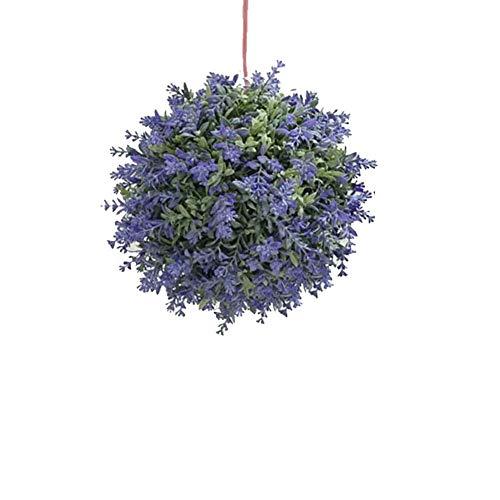 Lavanda Bosso Buxus Ball - Protezione UV Non è Facile a svanire - Topiary Palla Viola - Wedding Garden Decoration 23cm,1PCS
