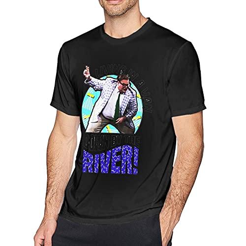 NANCYAA Chris Farley Comedian - Camiseta de manga corta con cuello redondo, color negro, Negro, XXL