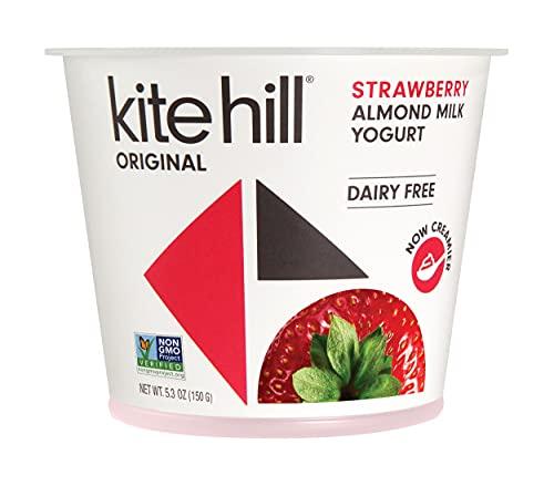 Kite Hill, Artisan Almond Milk Yogurt, Strawberry, 5.3oz