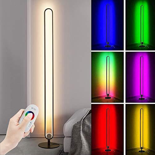 Ydshyth Led Stehlampe Farbwechsel Minimalistische Nordische Stehlampe Mit Fernbedienung Einstellbare Lampe Für Wohnzimmer, Schlafzimmer, Büro, 20w