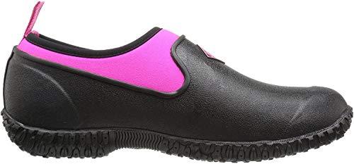 Muckster ll Women's Rubber Garden Shoes,Black/Pink,6M US