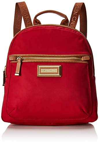Calvin Klein Belfast Nylon Key Item Backpack, red