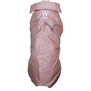 Wouapy Imper Manteau Imperméable pour Chien Vieux Rose Taille 26