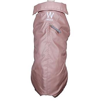 Wouapy Imper Manteau Imperméable pour Chien Vieux Rose Taille 38