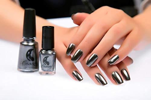 Metallfarbener Spiegeleffekt-Nagellack, schwarz, langlebig und praktisch