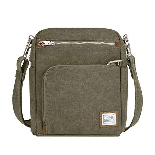 travelon leather messenger bags Travelon Anti-Theft Heritage Tour Bag: Sage