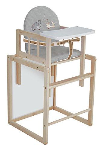 Trona Combi roba, trona con bandeja transformable en silla y mesa independientes,...