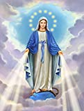 WYTCY Pintar Por Números - Virgen María. Pintura Al Óleo De Lienzo De Lino, Pintura De Arte Moderno, Kit De Pintura De Bricolaje, Adecuado Para Adultos Y Principiantes40*50CM