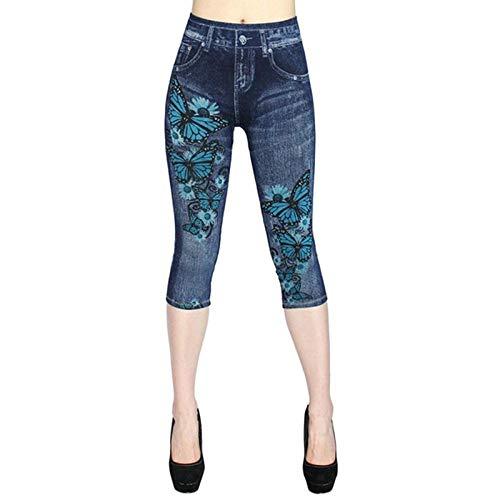 Leggings Print Leggings Frauen High Waist Sport Leggings Damen Casual Outdoor Jeans Push Up Gym Workout Leggings Damen Hosen XL 2 Gratis Versand