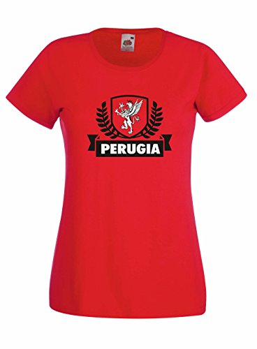 Settantallora – Camiseta de Mujer J1273 Perugia Escudo Ciudad Grifone