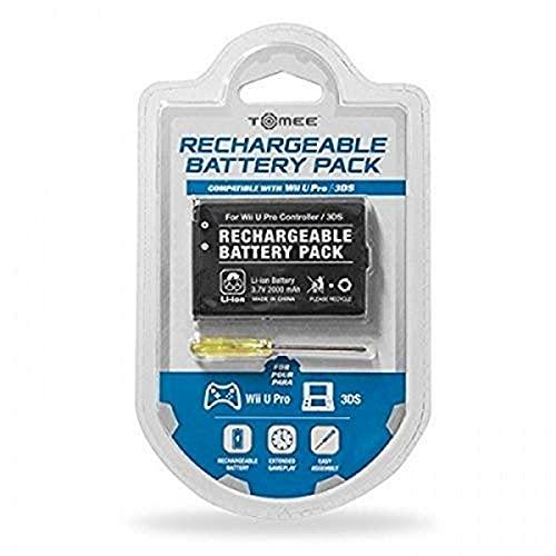 Tomee : 3.7V 2000mAh Batería Recargable Para Consola De Juegos Nintendo 3DS Y Wii-U