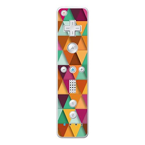 Disagu Design Skin für Nintendo Wii Controller Design Folie - Motiv Bunte Dreiecke 3