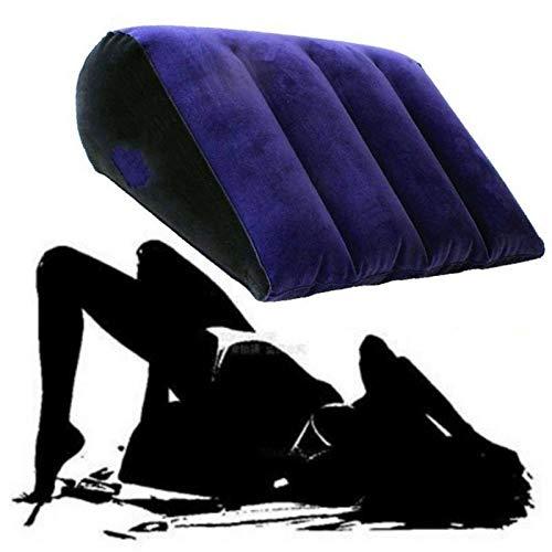 jansin Triángulo Flocando Inflable Muebles de Almohada Sofá Cojín de Cintura