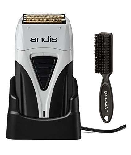 Andis Cordless Profoil Lithium Plus Titanium Foil Shaver with BeauWis Blade Brush