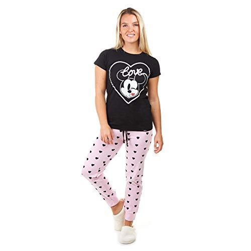 Disney Mickey Love Kiss Juego de Pijama, Multicoloured, Medium para Mujer