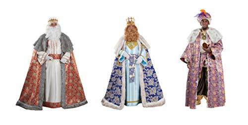 Reyes Magos de Lujo. Melchor, Gaspar y Baltasar. Incluyen Turbante y Corona de metal. LOTE de 3 trajes o por separado.