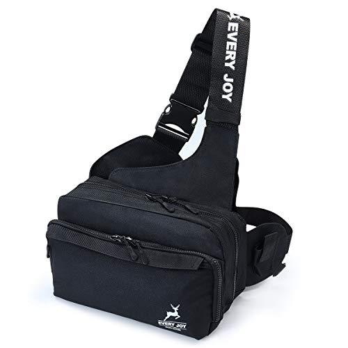Weska フィッシングバッグ 釣りバッグ タックルバッグ ワンショルダー 多機能 大容量 軽量 ウエストバッグ