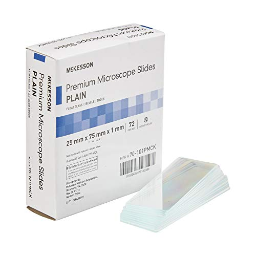 McKesson Glass Microscope Slide 25 X 75 X 1 mm Plain 72 pcs