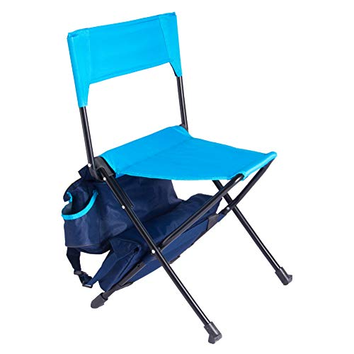 Zenree Foldable Multi-Functional Oversized Backpack Outdoor Chair with Built-in Cooler Bag for Camp, Travel, Beach, Picnic, Festival, Hiking, Fishing