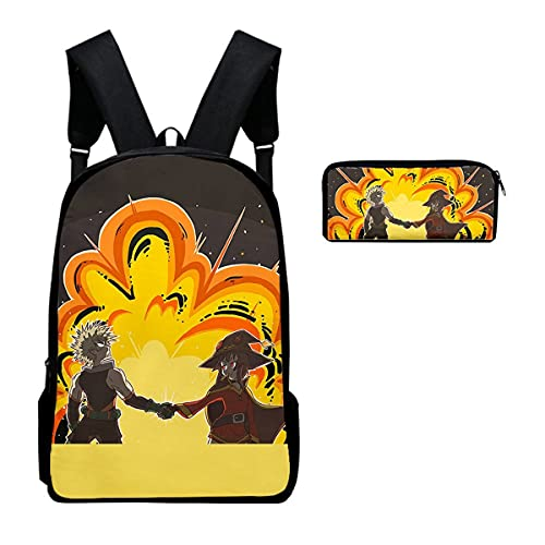 SHU-B My Hero Academia Mochila Impermeable, Estuche Mochila para Portátil Multiusos Daypacks con, Mochila Hombre Mujer Estudiante Trabajo Ordenador Viaje Negocio,