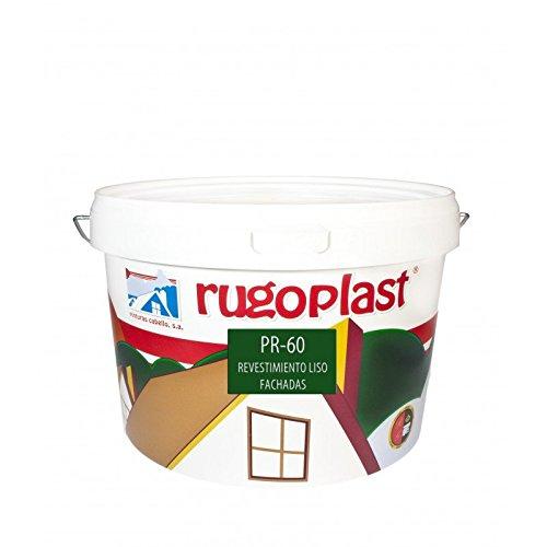 Pintura máxima calidad de exteriores blanca revestimiento liso ideal para decorar las paredes exteriores de tu casa PR-60 Blanco (10 Kg) Envío GRATIS 24 h.