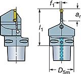 Sandvik Coromant c4-nf123g20–00070B corocut 1–2Unidad de corte para separar y acanalar