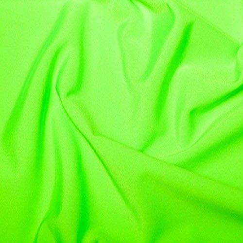 Tela de licra elástica en 4 direcciones, para traje de baño, 150 cm, Elástico, verde neón, 1 m