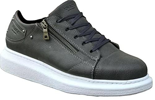 Knack 555 - Zapatos para hombre, estilo casual, para uso diario, ligeros, transpirables, para caminar, color gris, gris, 42 2/3 EU