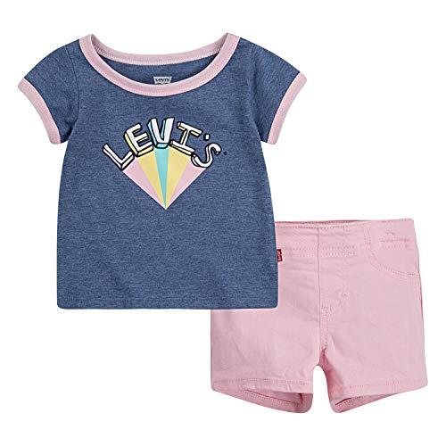Pink Kids Ringer T-Shirt - 6