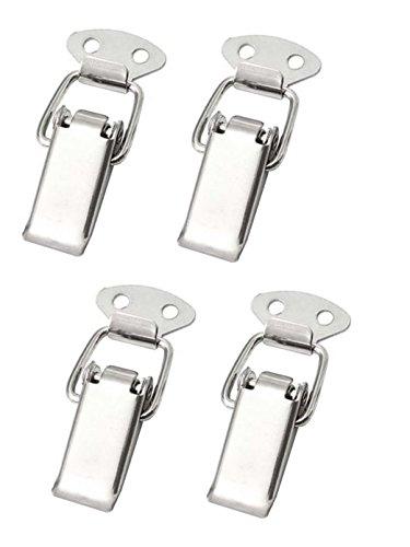 4x Spannverschluss Edelstahl, ideal als Kistenverschluss Klappverschluss - Verschiedene Größen & Varianten (27 mm, Normal)