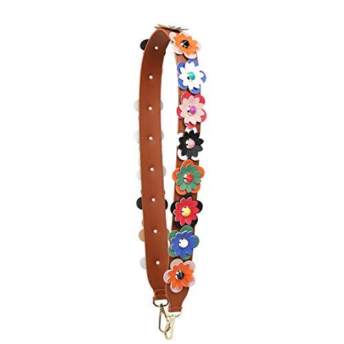 MOMIN Bracelet de Support de Remplacement réglable Fleur Femelle Sac bandoulière Accessoires de bandoulière frappé Couleur épaule Large bandoulière Extension Diagonale Sacs à bandoulière